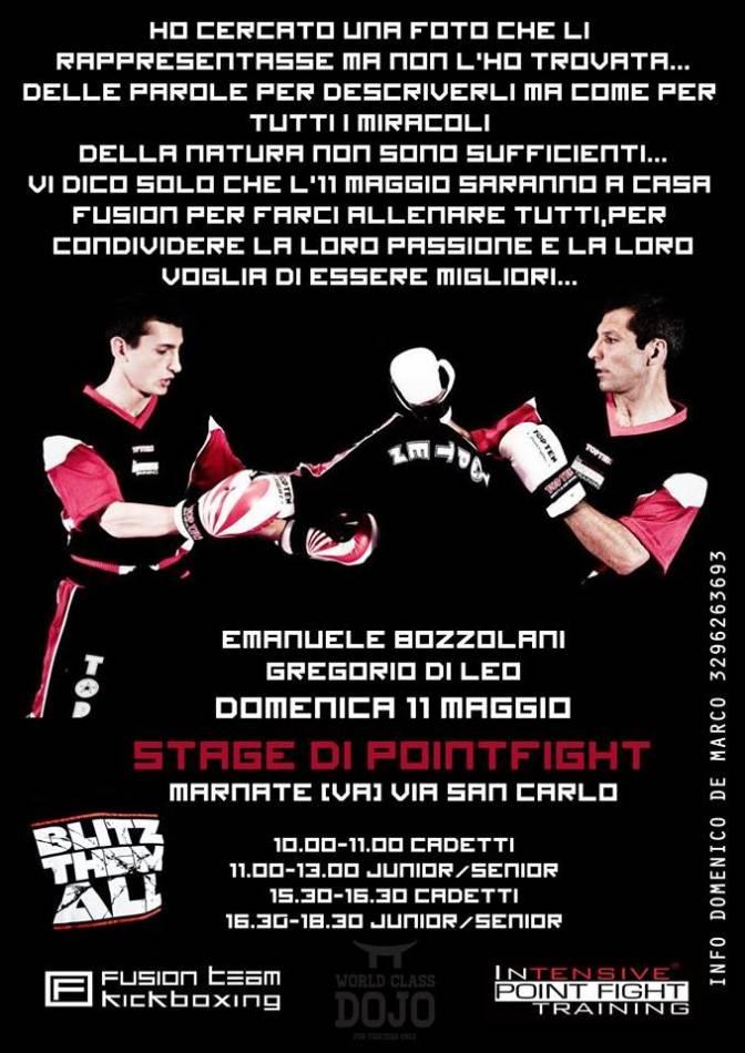 Stage con Bozzolani e Grillo