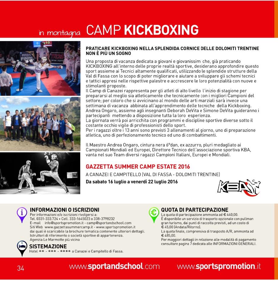 Sumer Camp Gazzetta Canazei