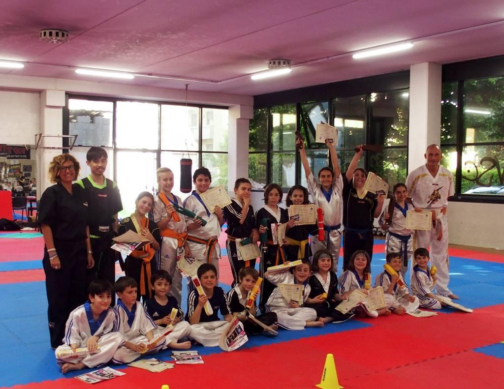 Esami di Cintura corsi Kickboxing Junior